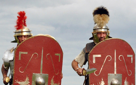 The Novium Museum- Roman re-enactment