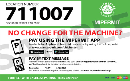 Mipermit sample car park ticket