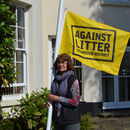 Thumbnail image of Cllr Elizabeth Hamilton supporting our Adopt an Area campaign