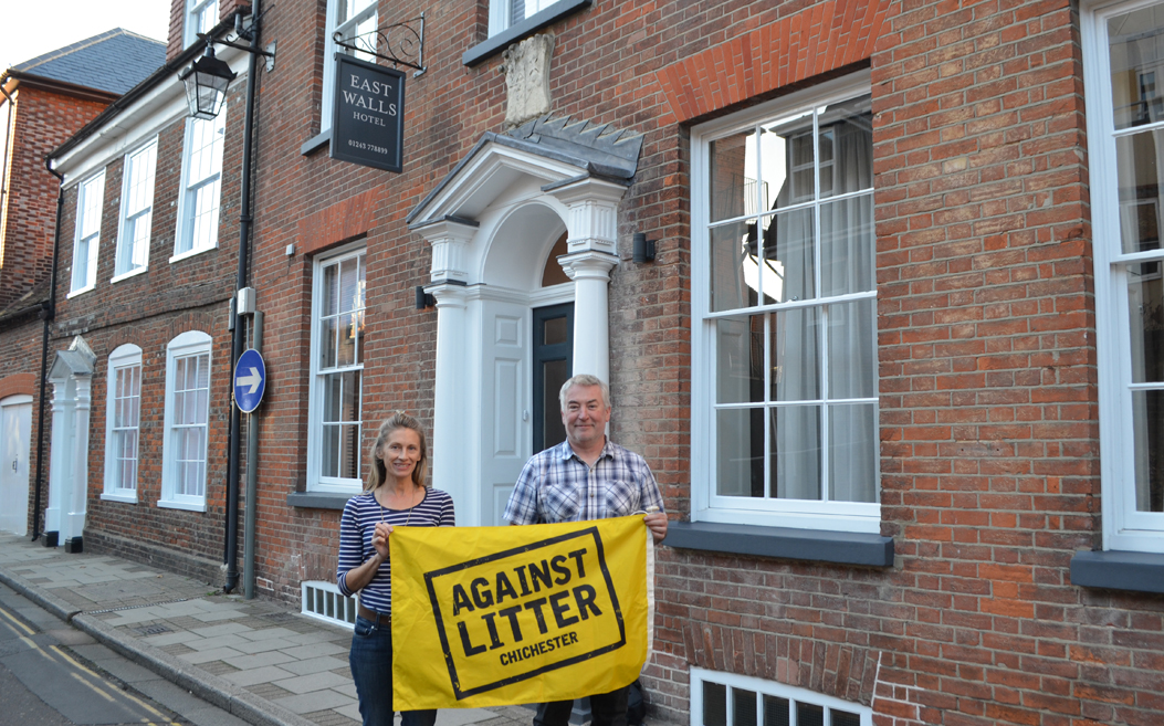 East Walls Hotel supporting our Against Litter campaign