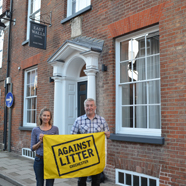 Thumbnail image of East Walls Hotel supporting our Against Litter campaign
