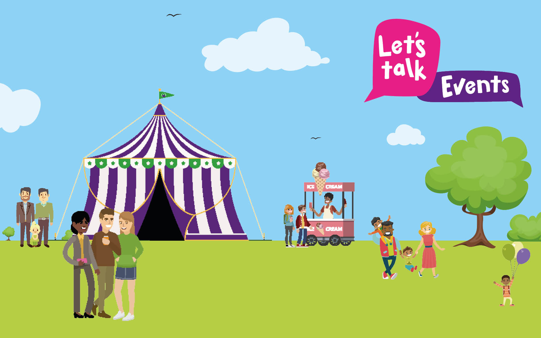 Let's Talk Events web graphic